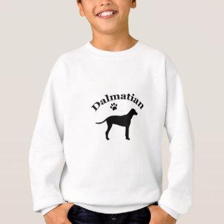 Dalmatinische Hundpawprint Silhouette Sweatshirt