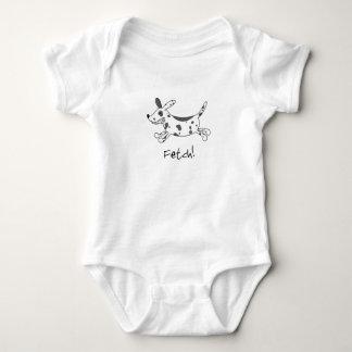 Dalmatinische Reichweite scherzt Baby-Strampler Baby Strampler