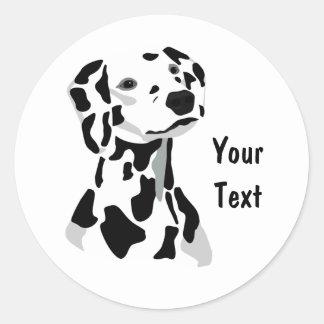 Dalmatinischer Hundeaufkleber Runder Aufkleber