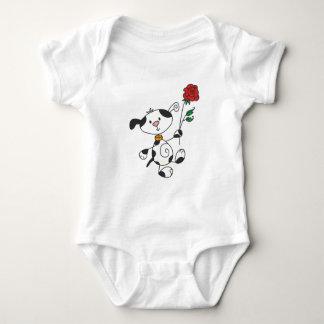 Dalmation mit Rosen-T-Shirts und Geschenken Baby Strampler