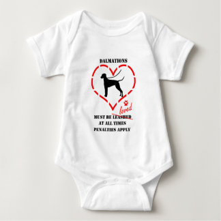 Dalmations muss geliebt werden baby strampler