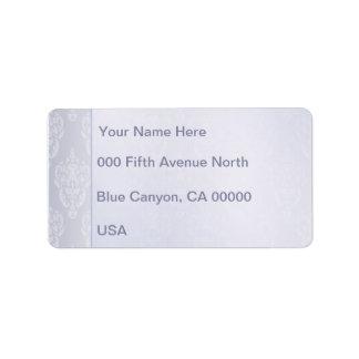Damassé bleu-clair étiquette d'adresse