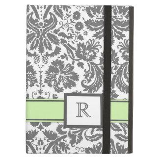 damassé florale de monogramme d'iPad de menthe fai
