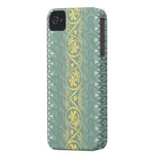 Damassé turquoise élégante Blackberry de beurre au