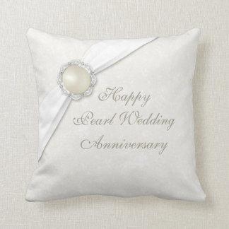 Damast-30. Hochzeitstag-Wurfs-Kissen Zierkissen