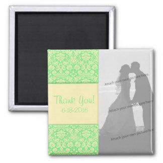 Damast-Anlass-Hochzeit danken Ihnen Magnet