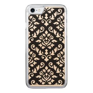 Damast-barocke große Muster-Schwarz-Einfassung Carved iPhone 8/7 Hülle