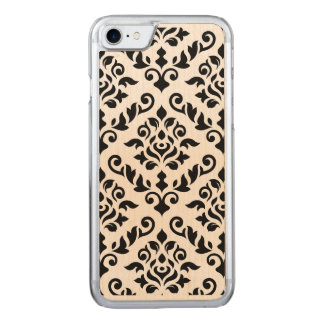 Damast-barockes großes Muster-Schwarzes Carved iPhone 8/7 Hülle