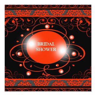 Damast-Brautparty-Einladung Quadratische 13,3 Cm Einladungskarte