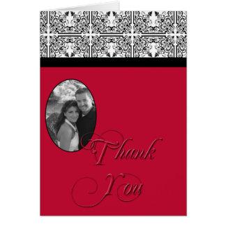 Damast-Freuden-Scharlachrot Rot-danken Ihnen zu ka