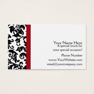 Damast-Hochzeits-Planer-Visitenkarten Visitenkarten