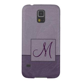 Damast-lila Monogramm-Samsungs-Galaxie-Kasten Samsung S5 Hülle