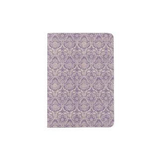 Damast-lila Muster Passhülle