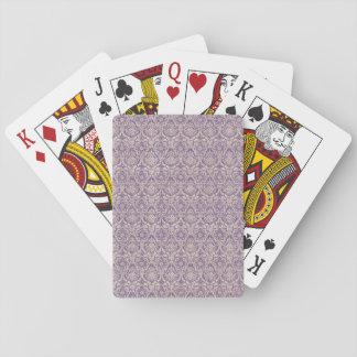 Damast-lila Muster Pokerkarte