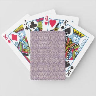 Damast-lila Muster Pokerkarten