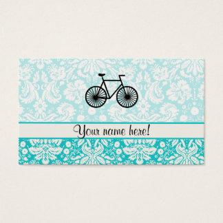 Damast-Muster-Fahrrad; Aquamarin Visitenkarte