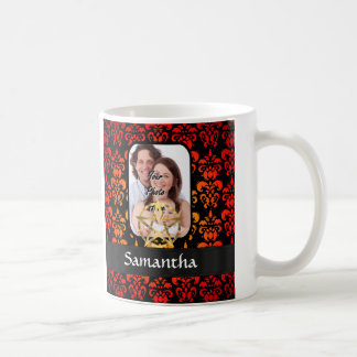 Damast und Pentagramm Kaffeetasse