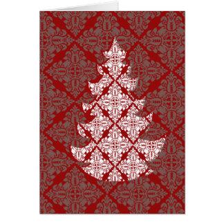 Damast-Weihnachtsbaum Karte
