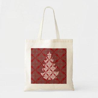 Damast-Weihnachtsbaum Tragetasche