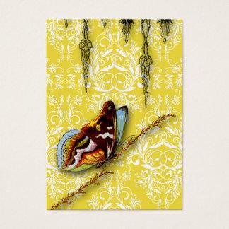 Damast-Wildblumen, SCHMETTERLING im Gelb Visitenkarte