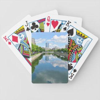Dambovita Fluss in Bukarest, Rumänien Bicycle Spielkarten