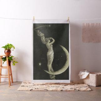 Dame auf dem Mond Stoff