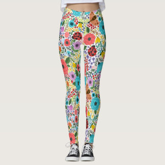 Dame Bugs und Blumen Leggings