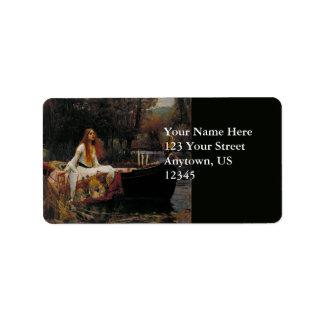 Dame der Schalotte durch John William Waterhouse Adressaufkleber
