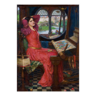 Dame der Schalotte durch John William Waterhouse Poster