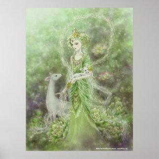 Dame des Mitleid-Kunst-Druckes Poster