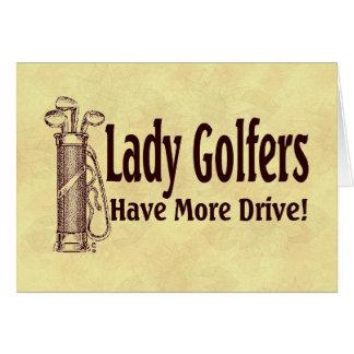 Dame Golfers Karte