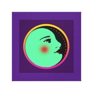 """Dame im Mond 12"""" X12"""" wickelte Leinwand ein"""