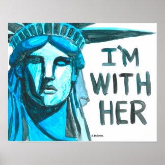 Dame Liberty - ich bin mit ihr Poster