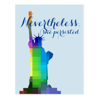 Dame Liberty Persisted Postkarte