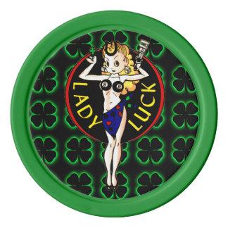Dame Luck Poker Chips Set