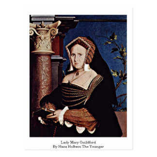 Dame Mary Guildford By Hans Holbein das jüngere Postkarte