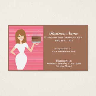 Dame mit BDay Kuchen-Visitenkarten Visitenkarte