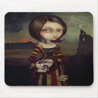 Dame mit einem Bosch Ei gotisches Mousepad