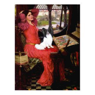Dame - Papillon 1 Postkarte