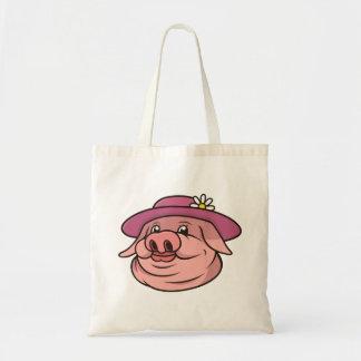 Dame Pig Portrait Tragetasche