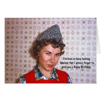 Dame Retro Fabulous Birthday Humor Grußkarte