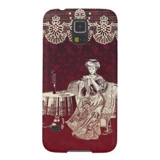 Dame trinkt Tee Samsung Galaxy S5 Hüllen