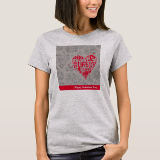 Damen-Asche - glücklicher Valentinstag T-Shirt