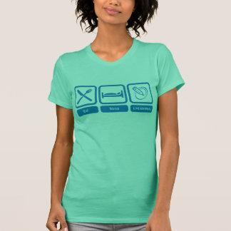 Damen-Behälter (essen Sie, schlafen Sie, T-Shirt