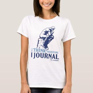 Damen-Behälter (ich denke, deshalb zapfe ich) T-Shirt