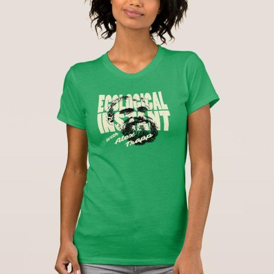 Damen-grünes ökologisches sofortiges Shirt