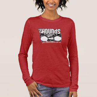 Damen-Jagdhund-lange Stereohülse Langarm T-Shirt