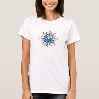 Damen-Kraft-Feld für gutes T - Shirt-Weiß T-Shirt