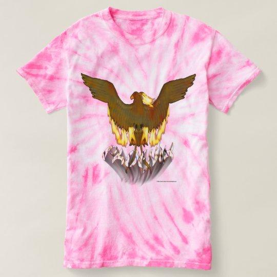 Damen-Krawatten-T - Shirt Phoenix goldener