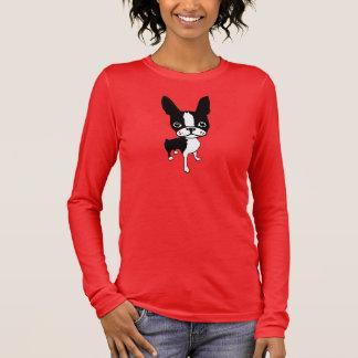 Damen-Shirt Hülse der Mirabellenunterzeichnung 3/4 Langarm T-Shirt